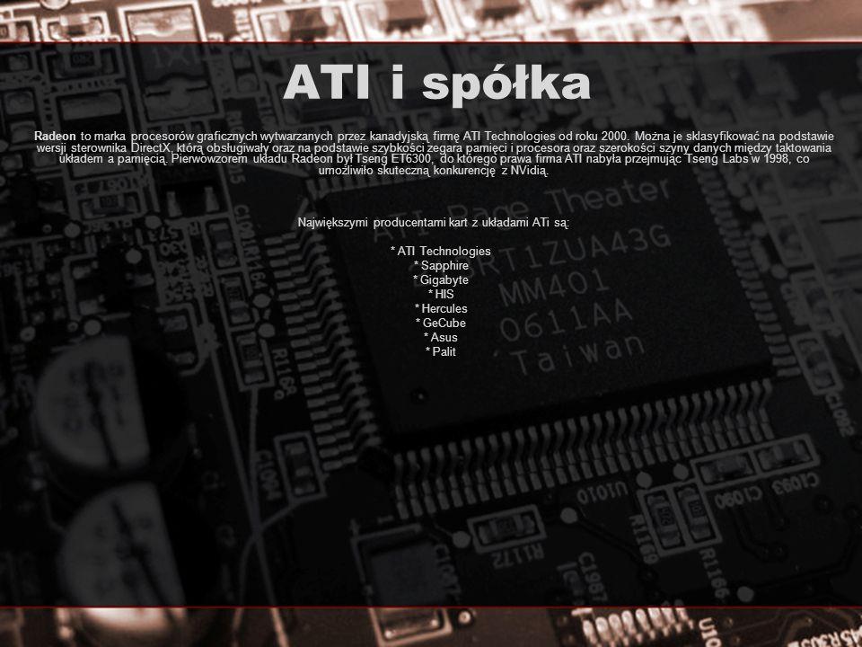 Największymi producentami kart z układami ATi są: