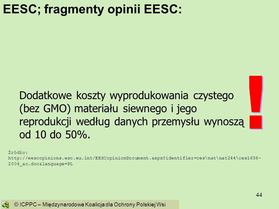 ! EESC; fragmenty opinii EESC: