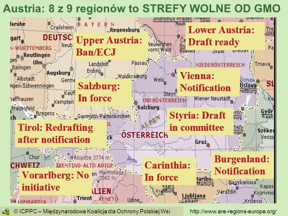 Austria: 8 z 9 regionów to STREFY WOLNE OD GMO