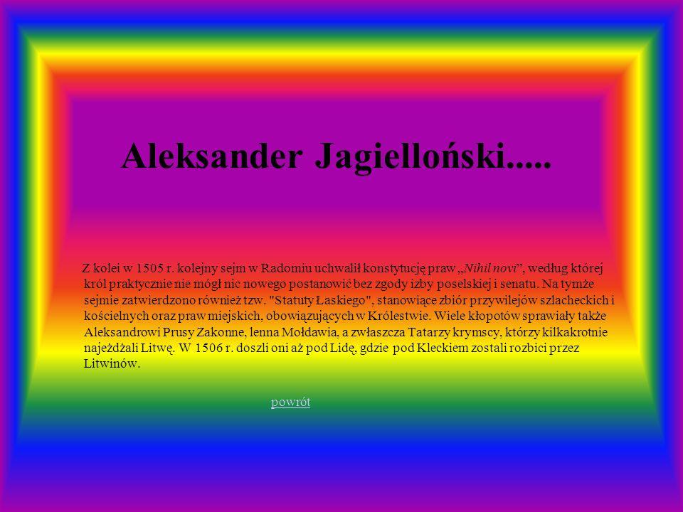 Aleksander Jagielloński.....