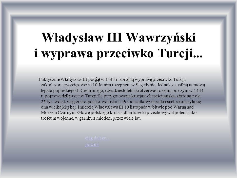 Władysław III Wawrzyński i wyprawa przeciwko Turcji...