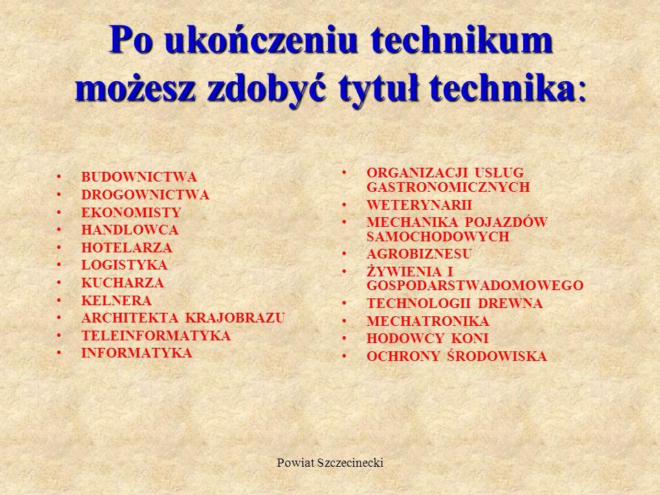 Po ukończeniu technikum możesz zdobyć tytuł technika:
