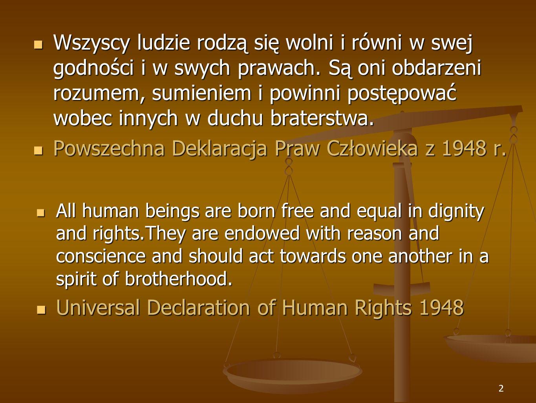Powszechna Deklaracja Praw Człowieka z 1948 r.