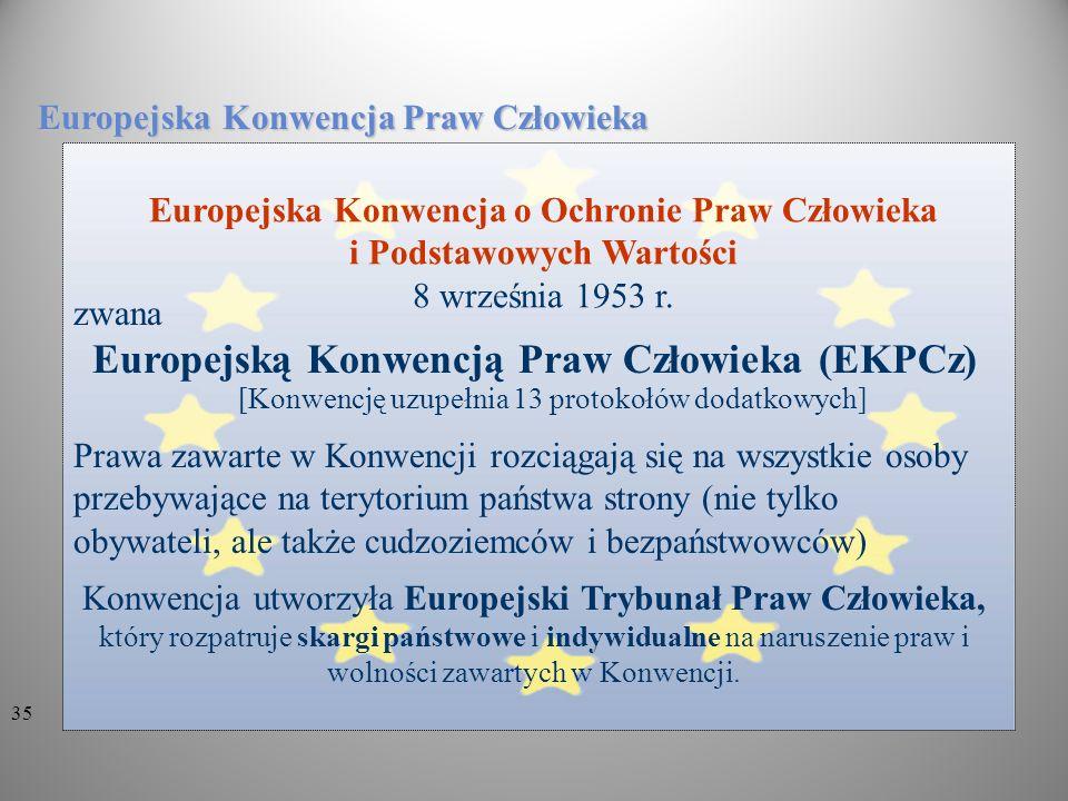 Europejską Konwencją Praw Człowieka (EKPCz)