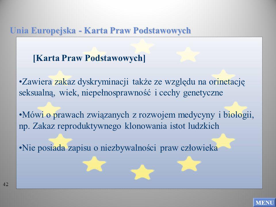 Unia Europejska - Karta Praw Podstawowych