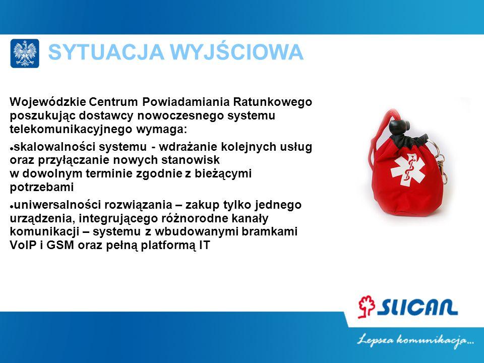 SYTUACJA WYJŚCIOWA Wojewódzkie Centrum Powiadamiania Ratunkowego poszukując dostawcy nowoczesnego systemu telekomunikacyjnego wymaga: