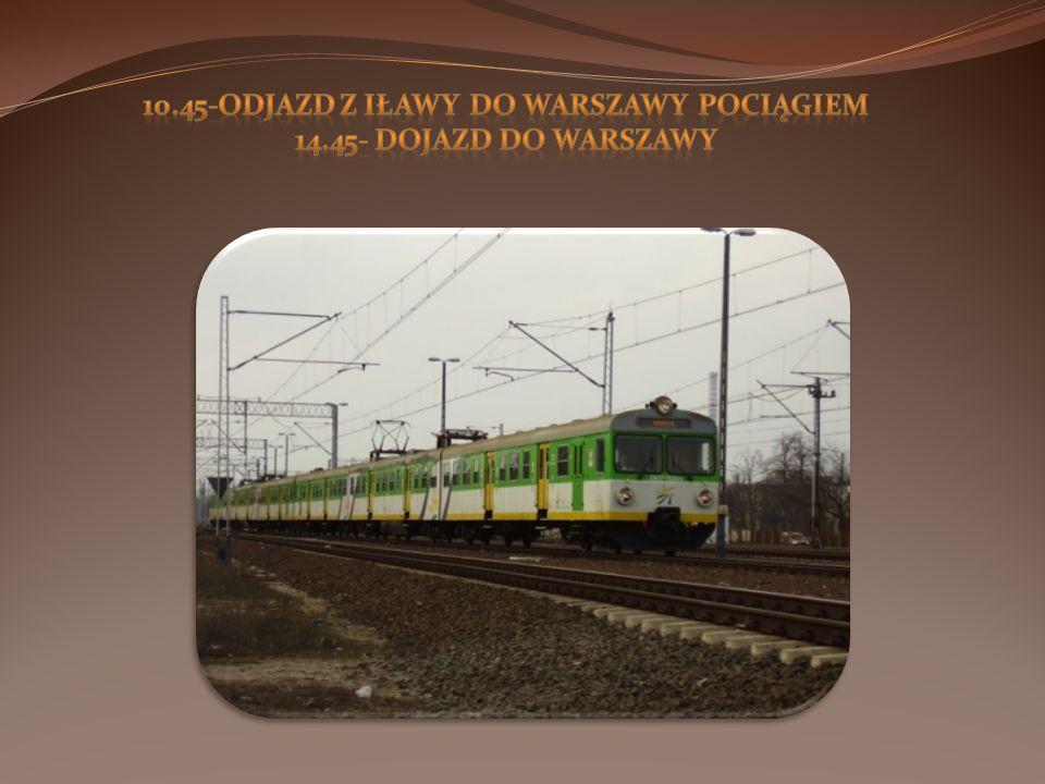 10.45-Odjazd z Iławy do Warszawy Pociągiem