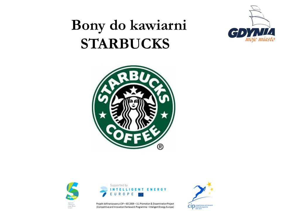 Bony do kawiarni STARBUCKS