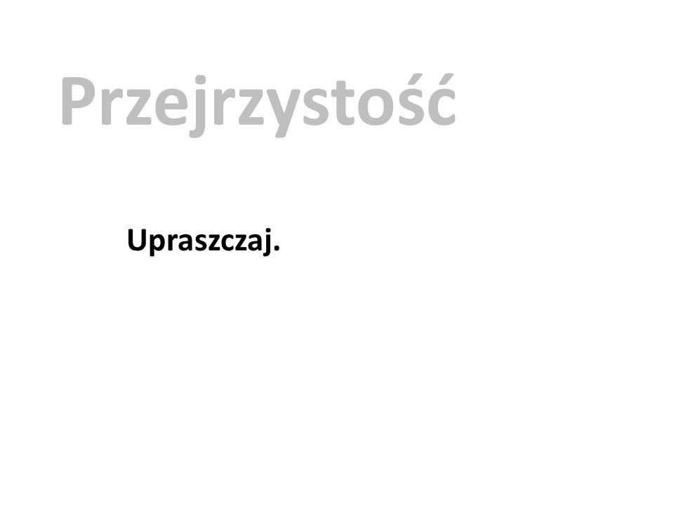 Przejrzystość Upraszczaj.