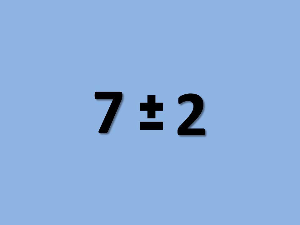 7 2 Siedem plus minus dwa to mit oparty na obserwacji psychologów dotyczących pamięci krótkotrwałej