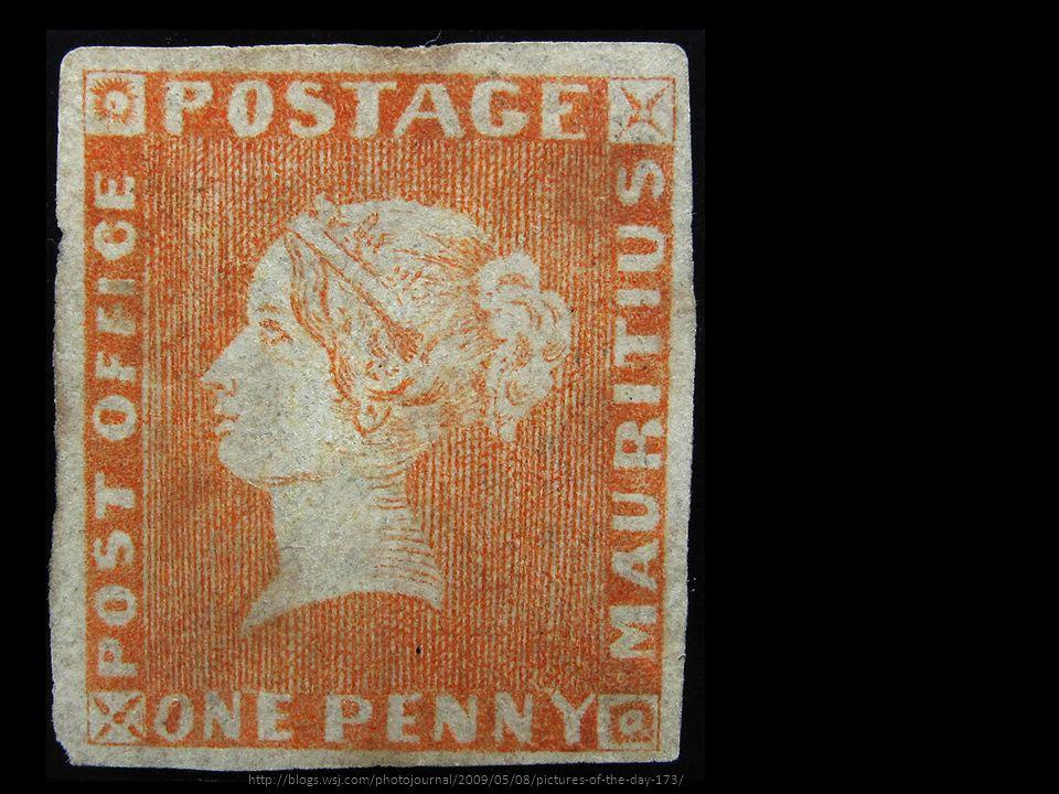Najcenniejszy znaczek świata: Czerwony Mauritius (1847).