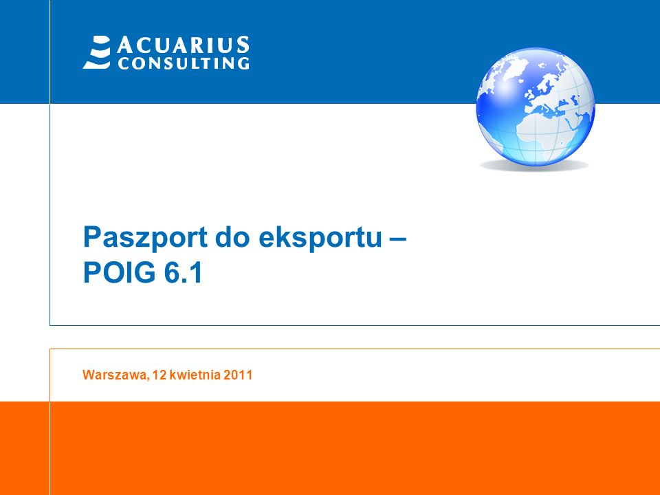 Paszport do eksportu – POIG 6.1