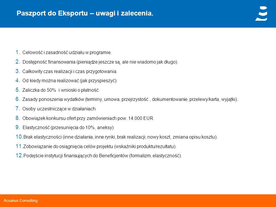 Paszport do Eksportu – uwagi i zalecenia.