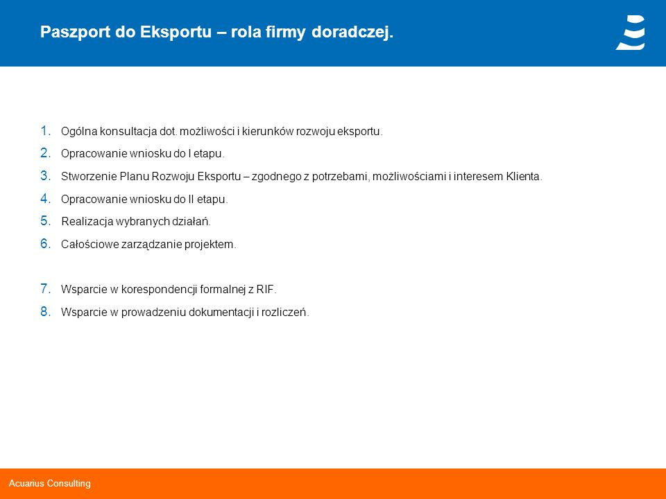 Paszport do Eksportu – rola firmy doradczej.