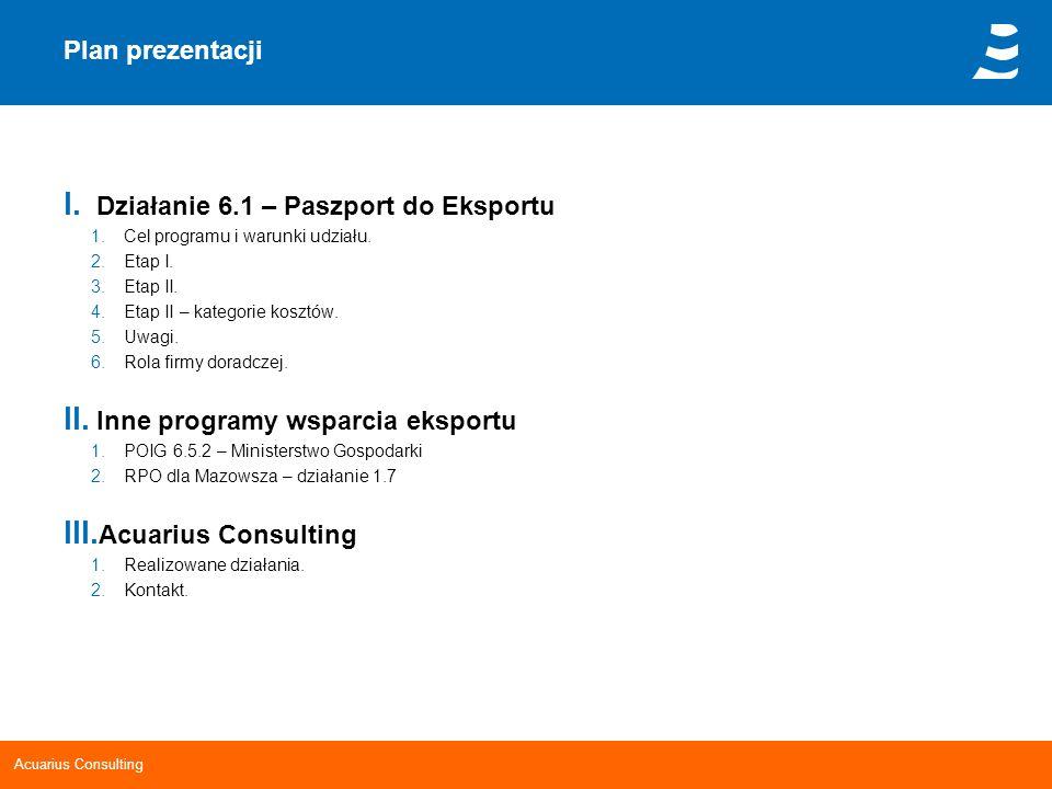 Działanie 6.1 – Paszport do Eksportu