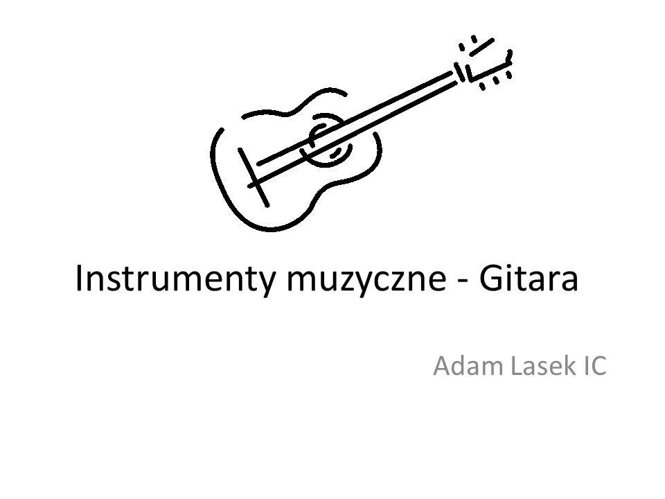 Instrumenty muzyczne - Gitara