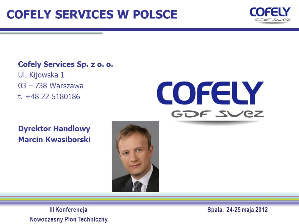 COFELY SERVICES W POLSCE