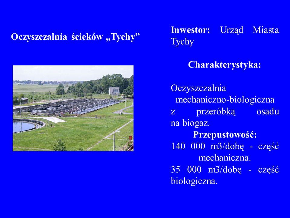 """Inwestor: Urząd Miasta Tychy Oczyszczalnia ścieków """"Tychy"""