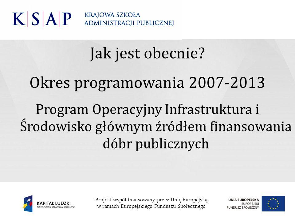 Jak jest obecnie Okres programowania 2007-2013