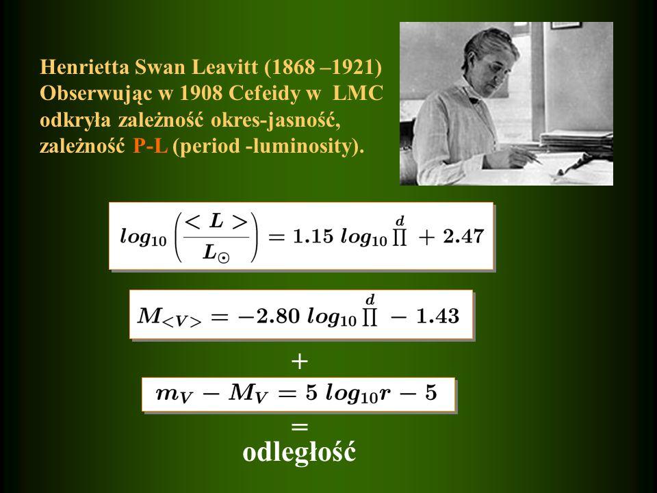+ = odległość Henrietta Swan Leavitt (1868 –1921)