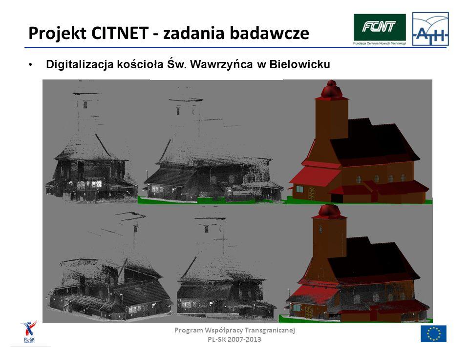 Projekt CITNET - zadania badawcze