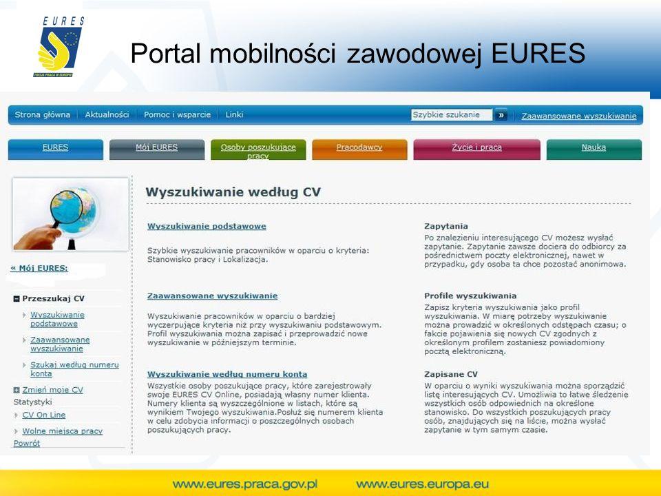 Portal mobilności zawodowej EURES