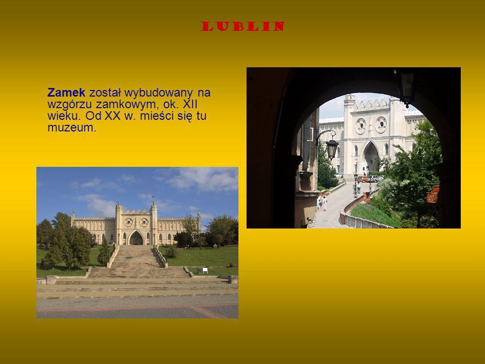 Lublin Zamek został wybudowany na wzgórzu zamkowym, ok. XII wieku. Od XX w. mieści się tu muzeum.