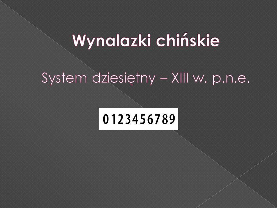 System dziesiętny – XIII w. p.n.e.