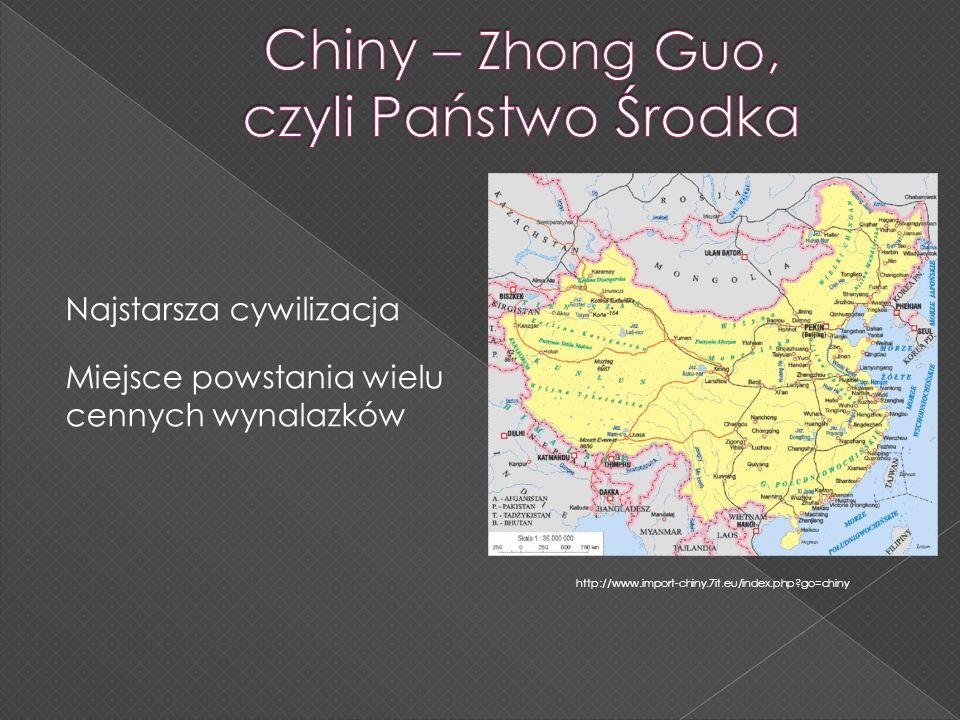 Chiny – Zhong Guo, czyli Państwo Środka
