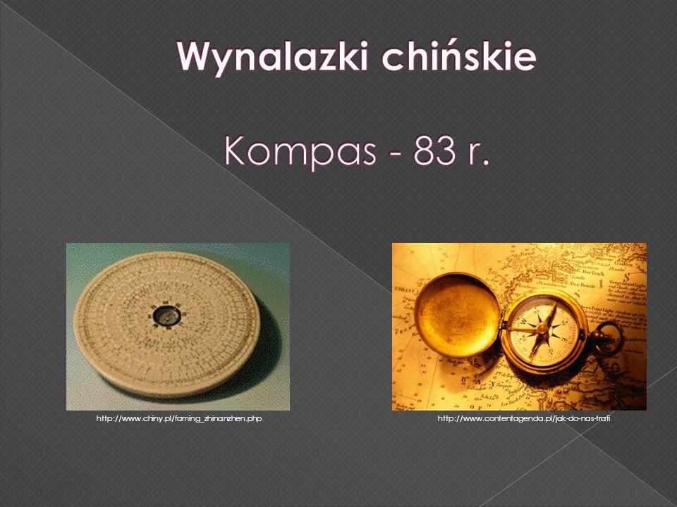 Wynalazki chińskie Kompas - 83 r.