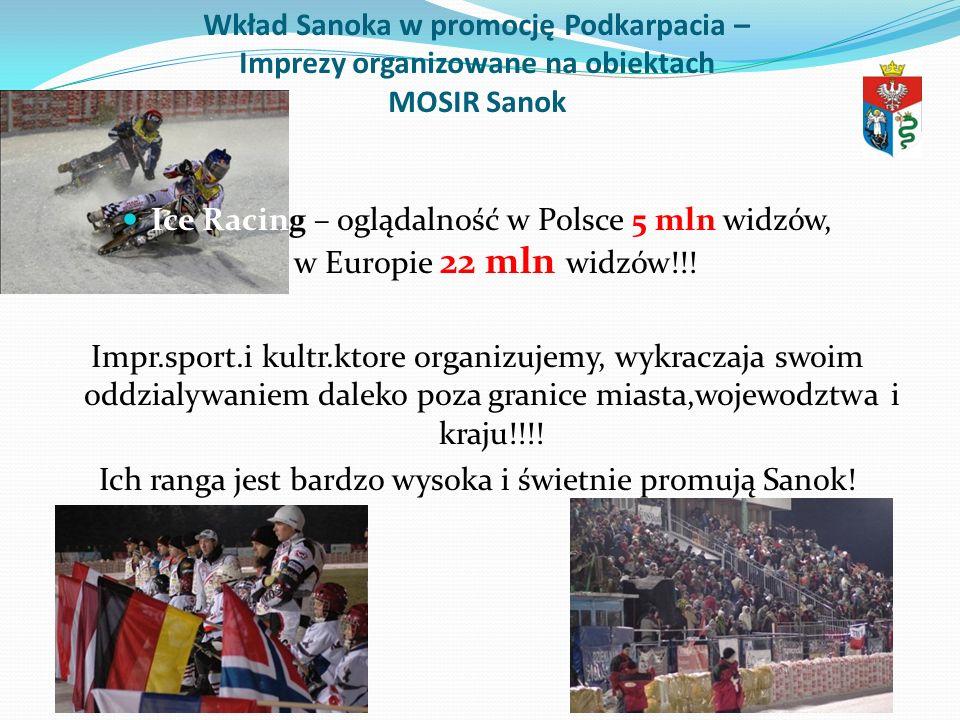 Ich ranga jest bardzo wysoka i świetnie promują Sanok!