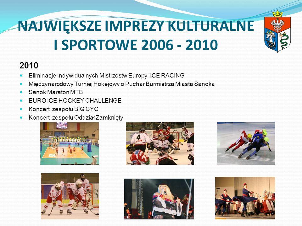 NAJWIĘKSZE IMPREZY KULTURALNE I SPORTOWE 2006 - 2010