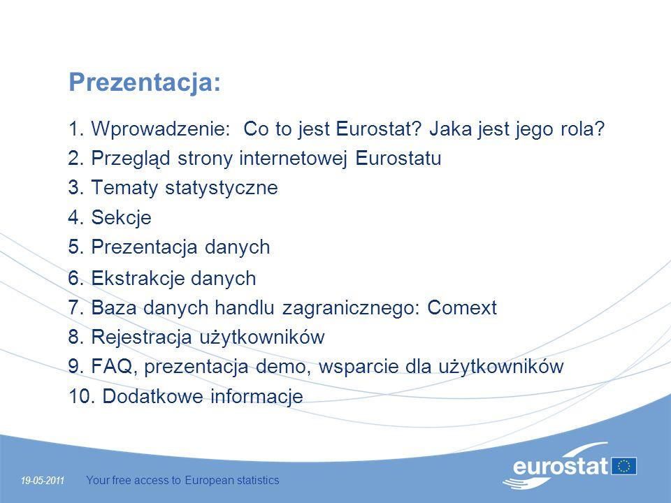 Prezentacja: 1. Wprowadzenie: Co to jest Eurostat Jaka jest jego rola 2. Przegląd strony internetowej Eurostatu.