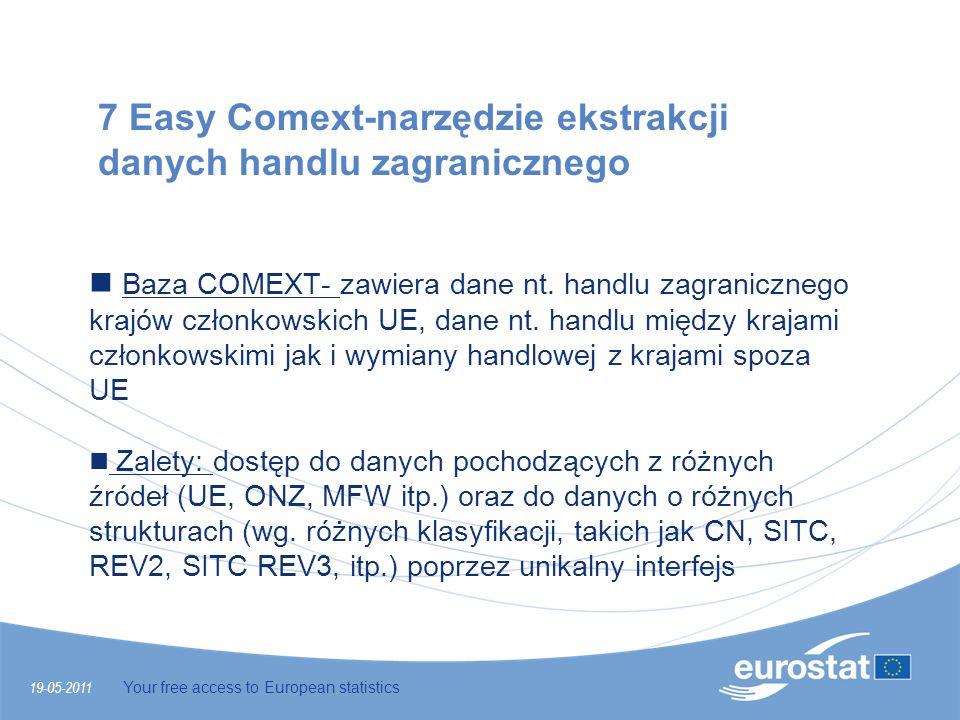 7 Easy Comext-narzędzie ekstrakcji danych handlu zagranicznego