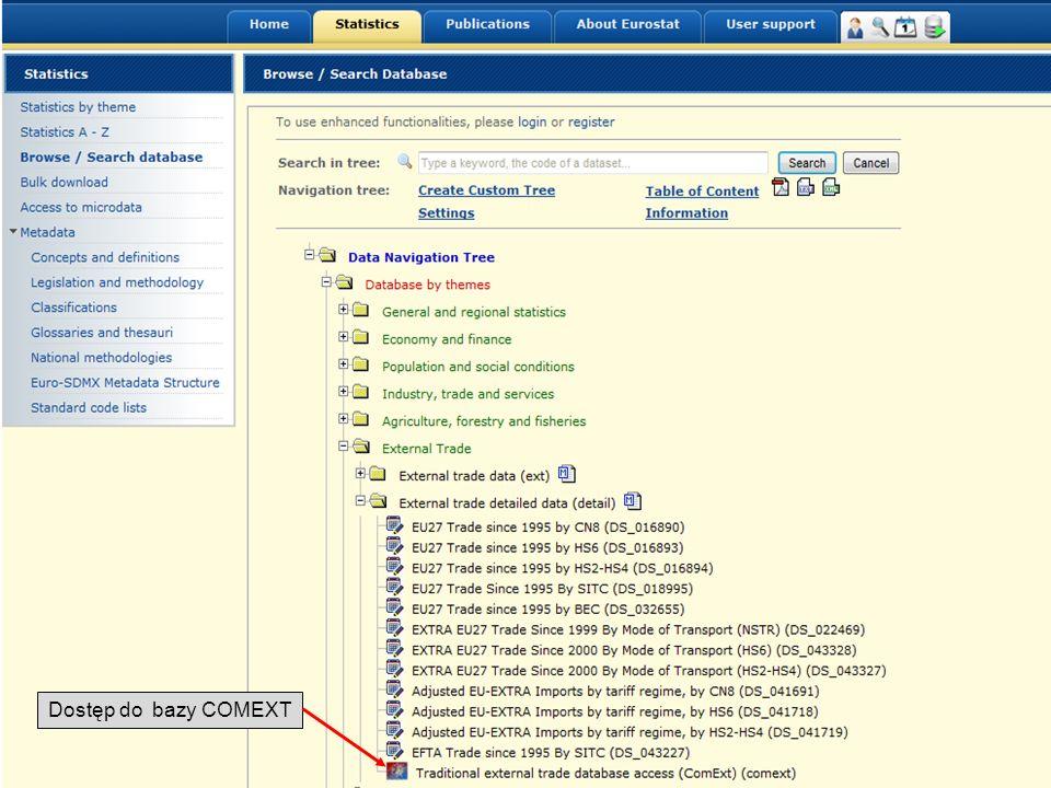 Dostęp do bazy COMEXT 19-05-2011