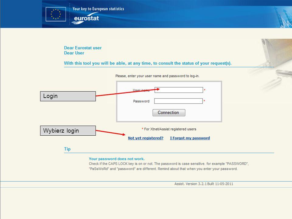 Login Wybierz login 19-05-2011 Your free access to European statistics