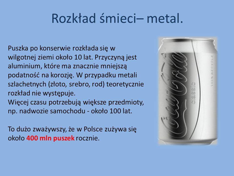 Rozkład śmieci– metal.