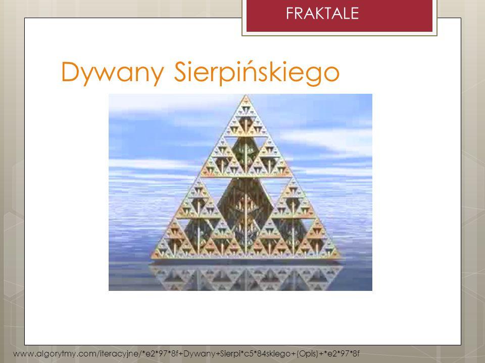Dywany Sierpińskiego FRAKTALE