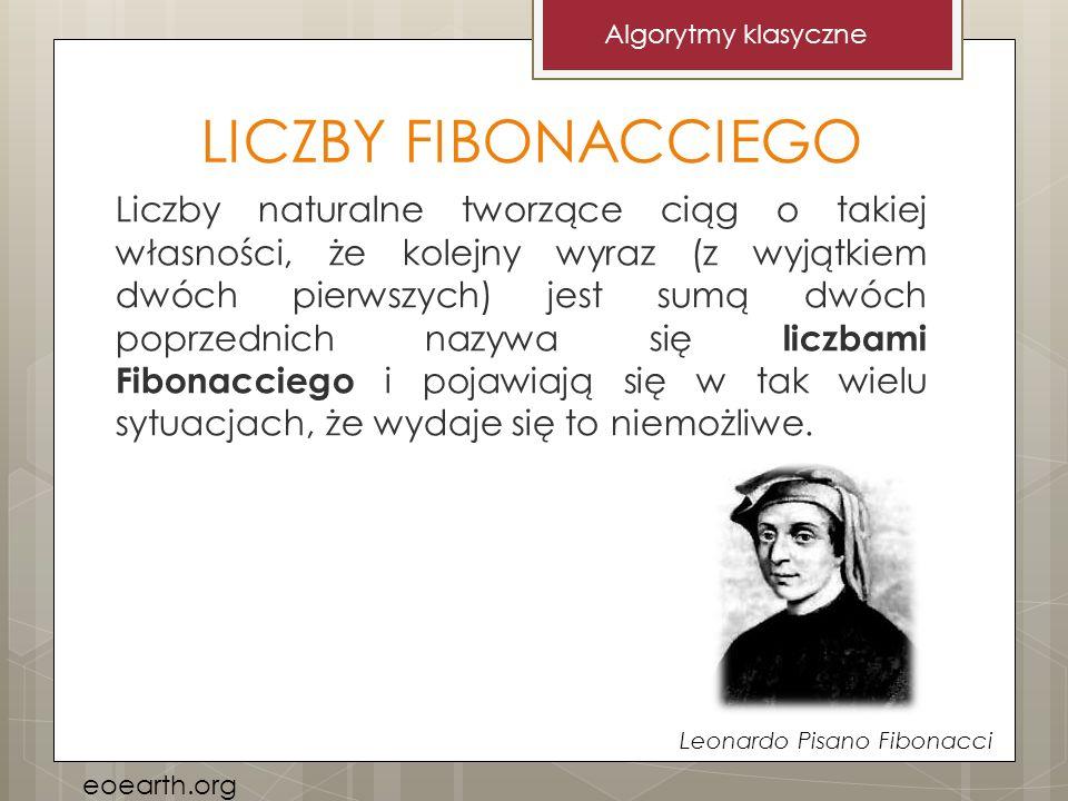 Algorytmy klasyczne LICZBY FIBONACCIEGO.