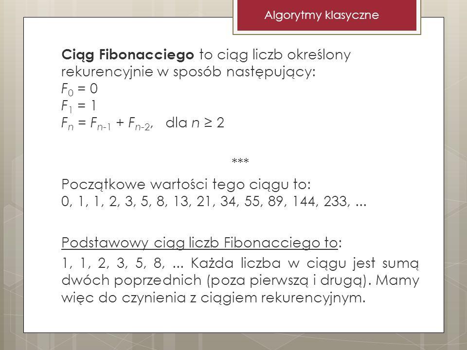 Algorytmy klasyczne