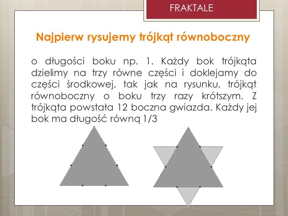 Najpierw rysujemy trójkąt równoboczny