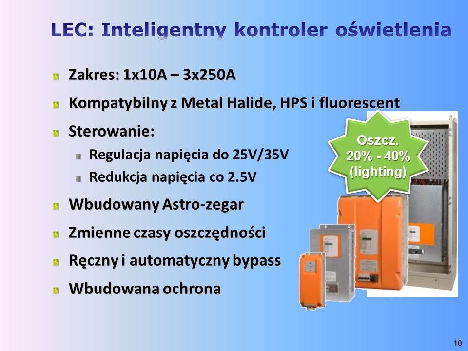 LEC: Inteligentny kontroler oświetlenia
