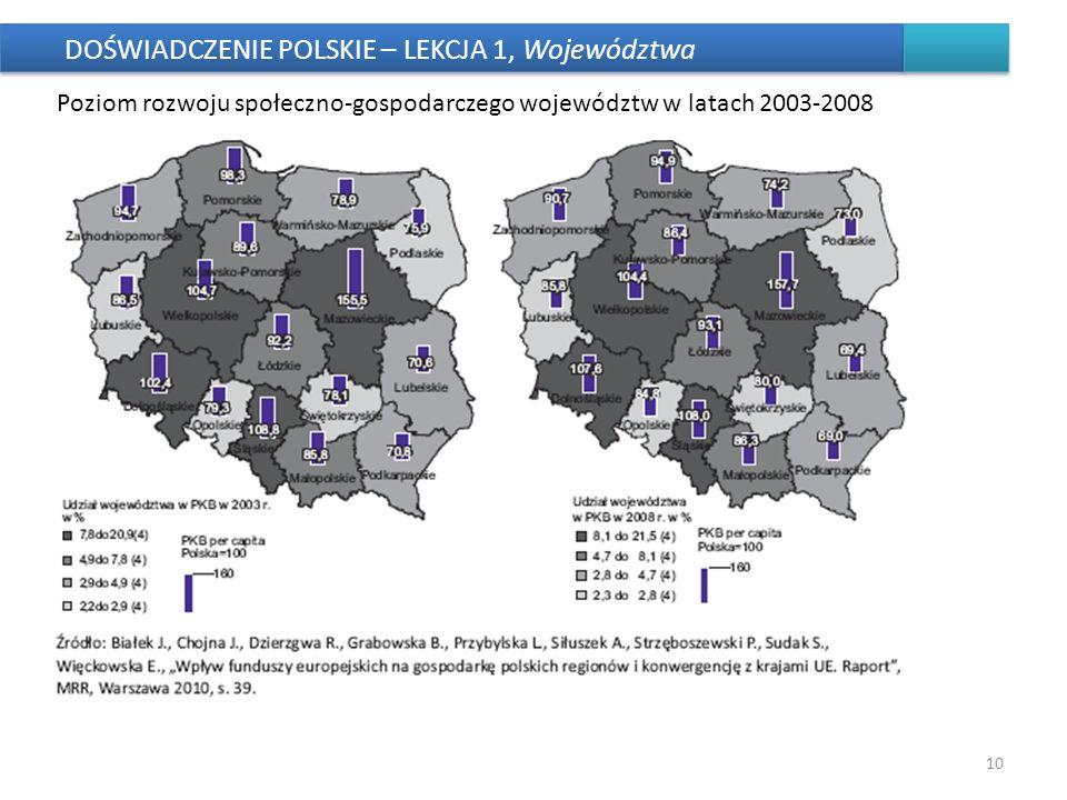 DOŚWIADCZENIE POLSKIE – LEKCJA 1, Województwa
