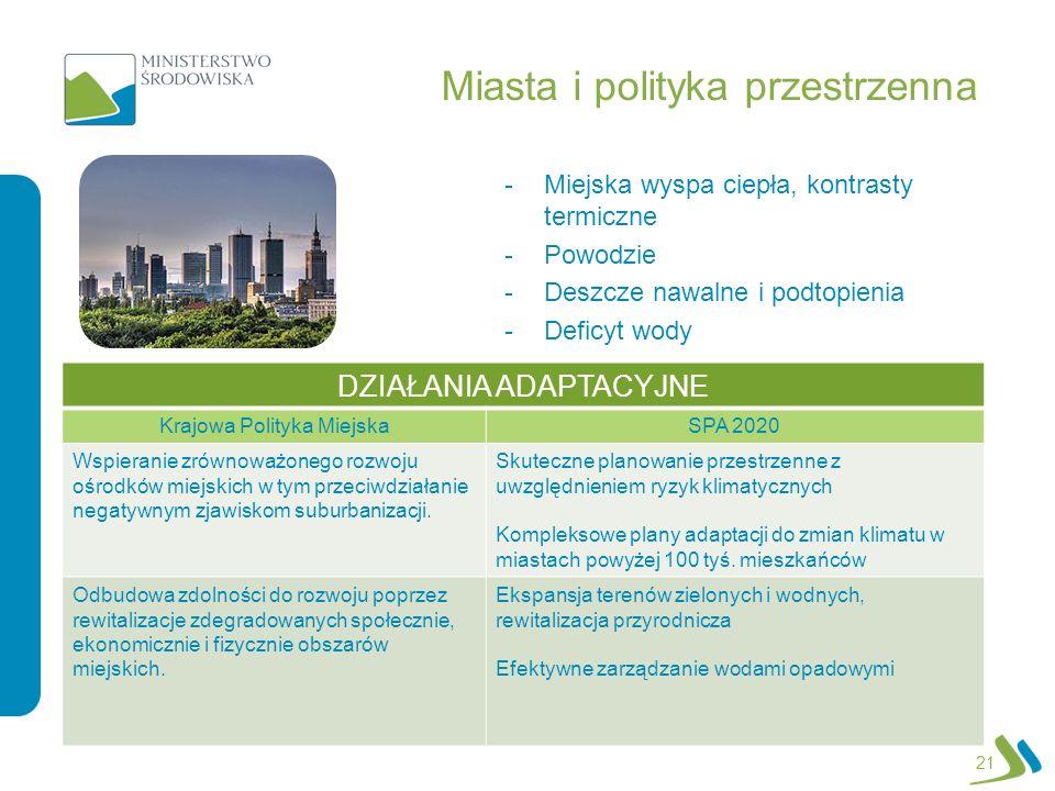 Miasta i polityka przestrzenna