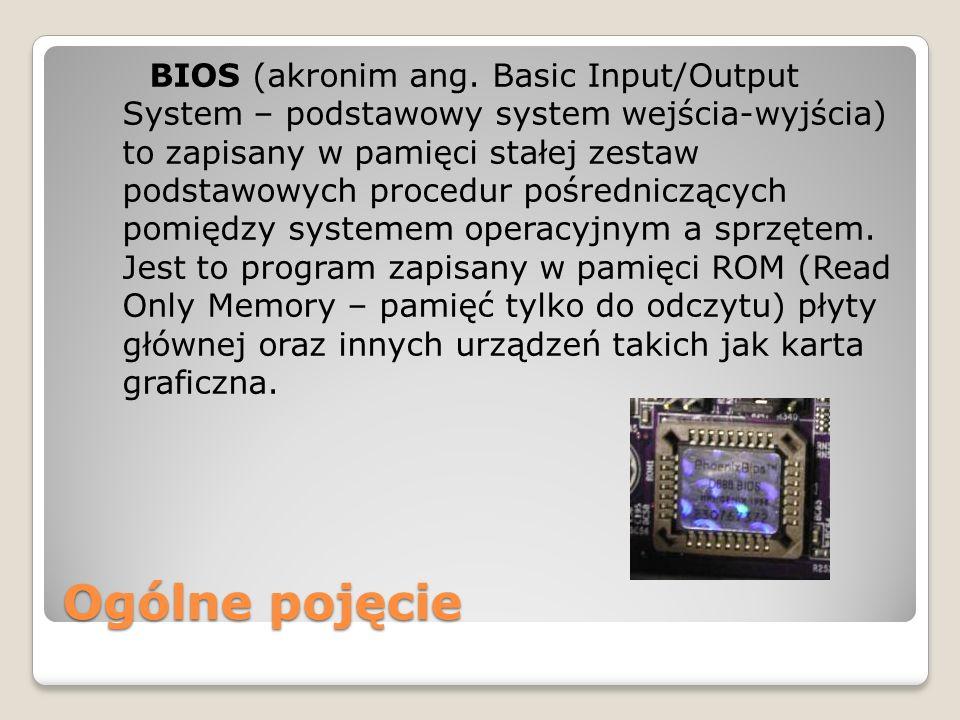 BIOS (akronim ang. Basic Input/Output System – podstawowy system wejścia-wyjścia) to zapisany w pamięci stałej zestaw podstawowych procedur pośredniczących pomiędzy systemem operacyjnym a sprzętem. Jest to program zapisany w pamięci ROM (Read Only Memory – pamięć tylko do odczytu) płyty głównej oraz innych urządzeń takich jak karta graficzna.