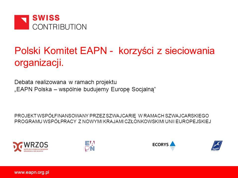 Polski Komitet EAPN - korzyści z sieciowania organizacji.
