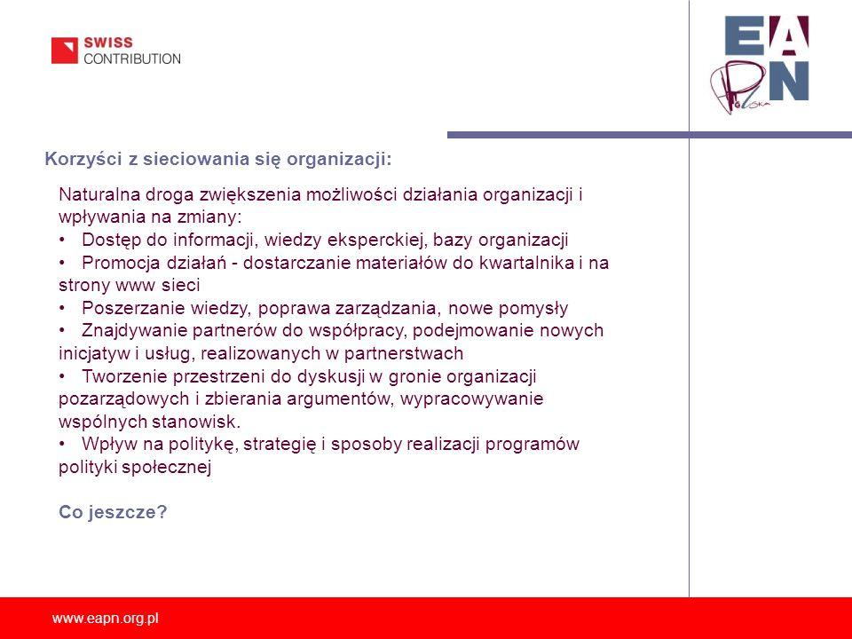 Korzyści z sieciowania się organizacji: