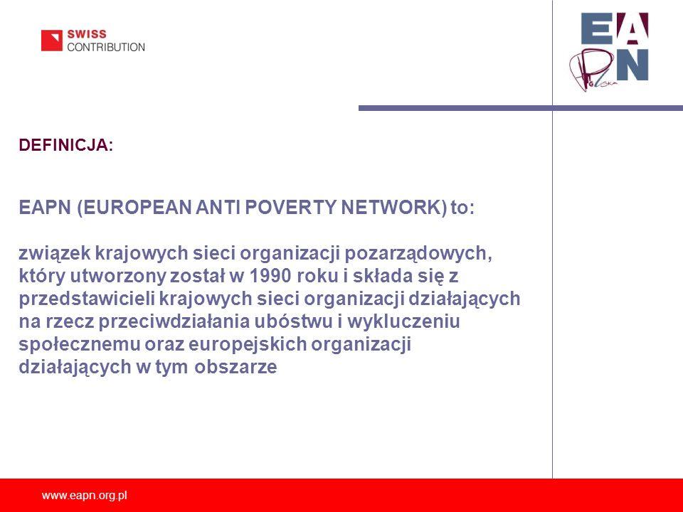 EAPN (EUROPEAN ANTI POVERTY NETWORK) to:
