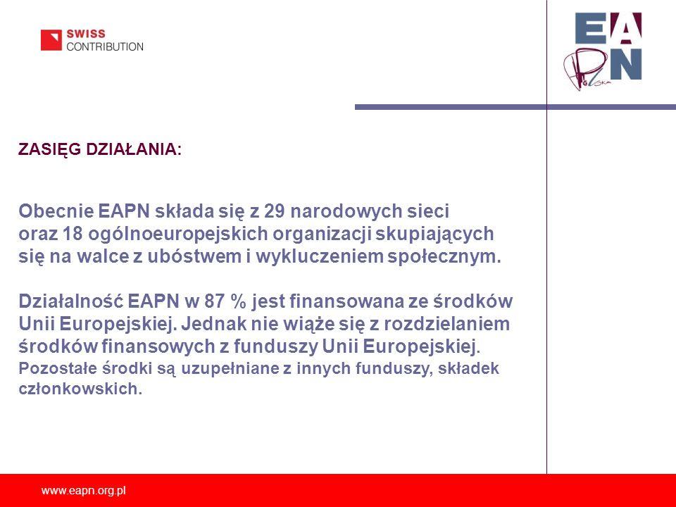Obecnie EAPN składa się z 29 narodowych sieci
