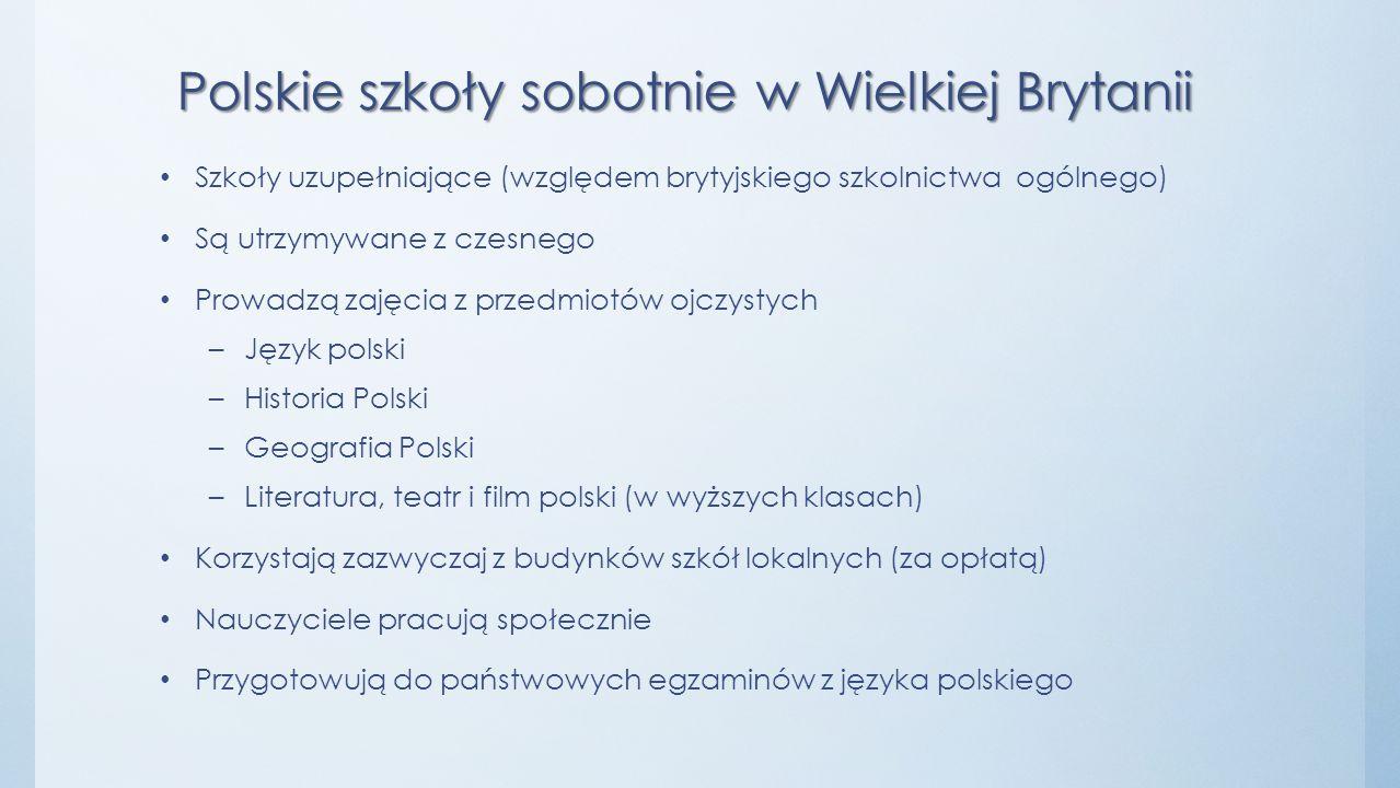 Polskie szkoły sobotnie w Wielkiej Brytanii